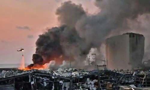 ബെയ്റൂത്ത് സ്ഫോടനം: 78 പേര് കൊല്ലപ്പെട്ടു; 4,000 പേര്ക്ക് പരിക്ക്